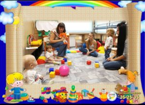 Занятия малышей с мамами в группе